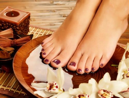 Fußmassage und Fußbad