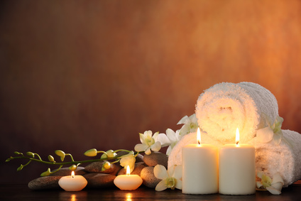 Kerzen, Handtücher